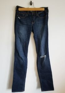 Hollister 26/32 size 3 dark denim distressed jeans